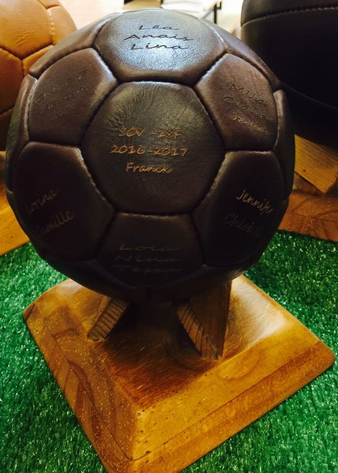 vintage custom leather soccer ball