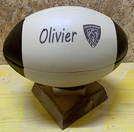 custom leather bi-color rugby ball